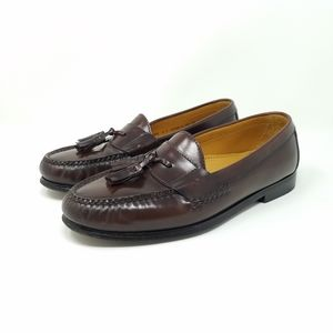 Cole Haan Pinch Tassel Moc Toe Mahogany Loafers, 9